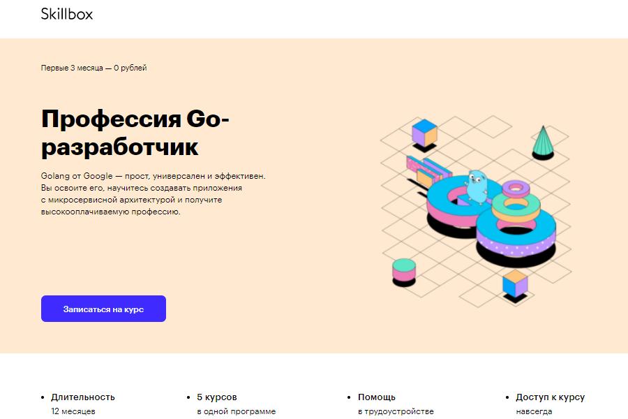 Профессия Go-разработчик от Skillbox