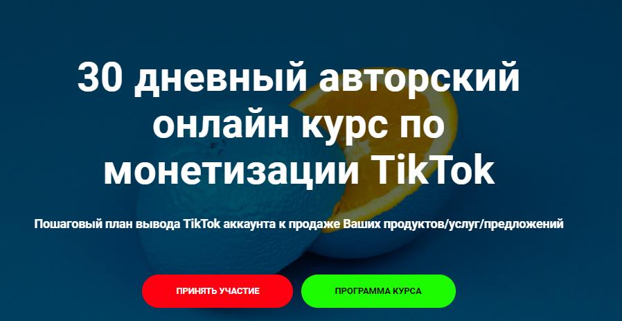 Авторский курс по монетизации TikTok от Gnezdiloff