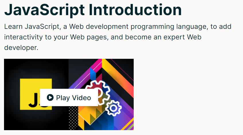 JavaScript Introduction от The World Wide Web Consortium