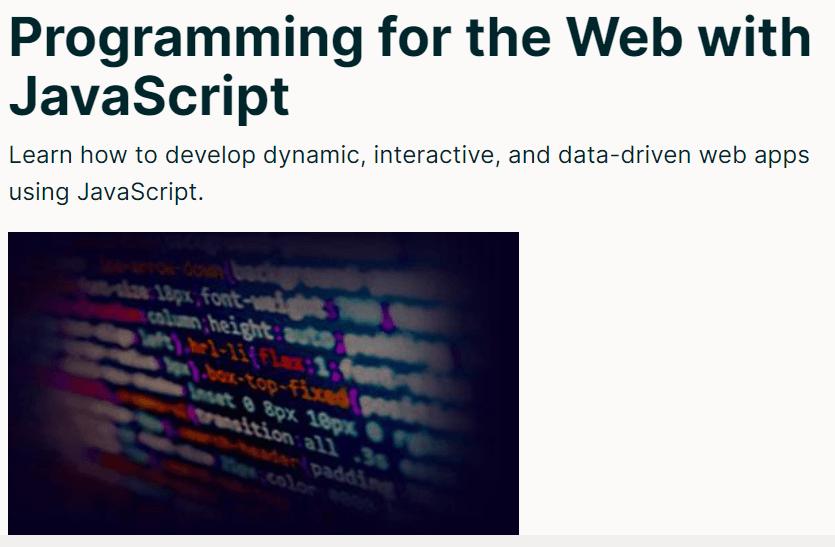Programming for the Web with JavaScript от Пенсильванского университета