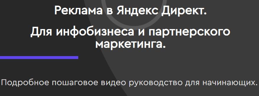 «Реклама в «Яндекс Директ» для инфобизнеса и партнерского маркетинга» от Юлии Литвиной