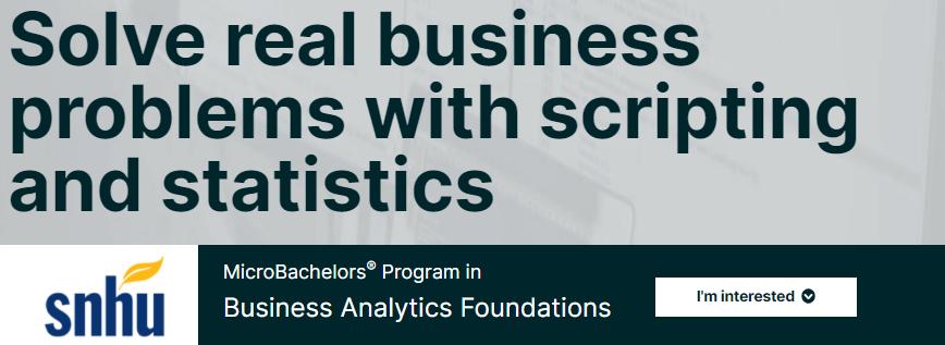 «Business Analytics Foundations» от Университета Южного Нью-Гемпшира